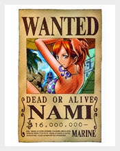 Wanted-Nami-Custom-Canvas-One-Piece