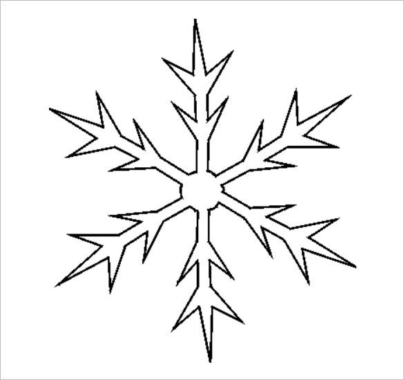 picture about Printable Name Stencils known as 17+ Snowflake Stencil Template Free of charge Printable Phrase, PDF