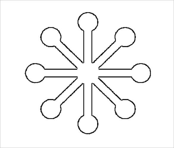 free printable modern snowflake cutout