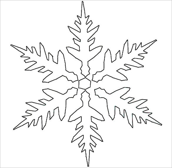 Free Printable Snowflake Stencil Download