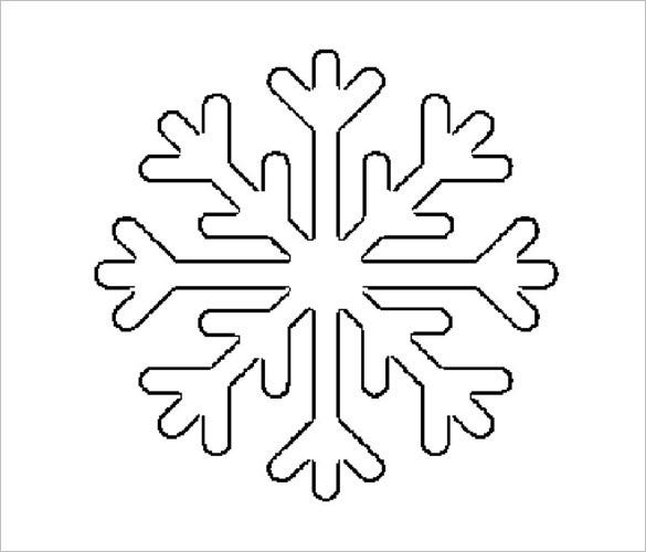 unique stencil snowflake shape