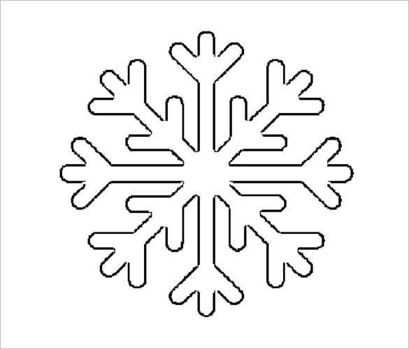 Снежинки шаблон