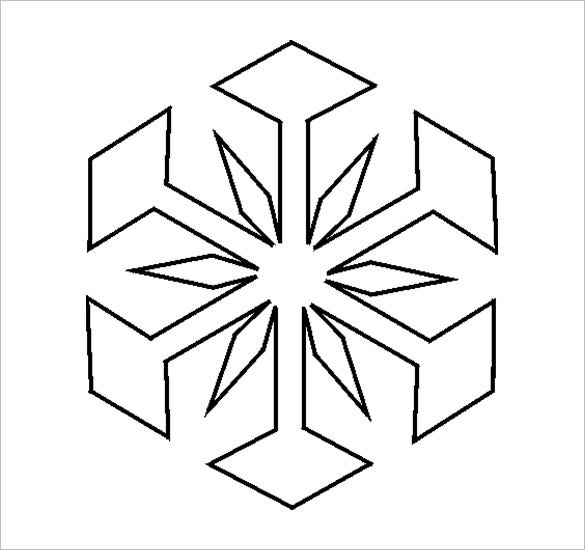 picture relating to Printable Name Stencils named 17+ Snowflake Stencil Template Cost-free Printable Phrase, PDF