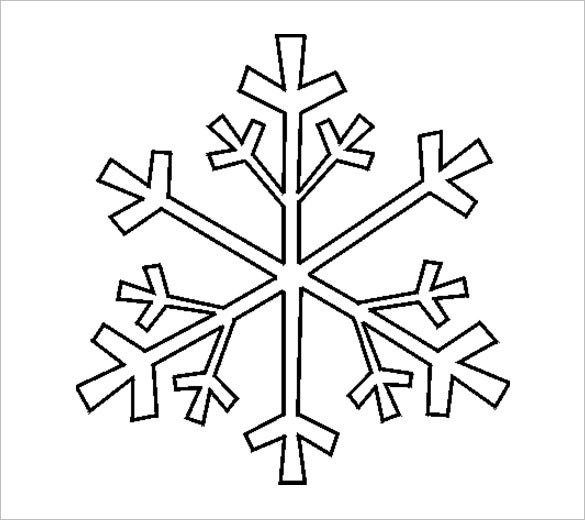 graphic regarding Snowflakes Template Printable known as 17+ Snowflake Stencil Template No cost Printable Phrase, PDF