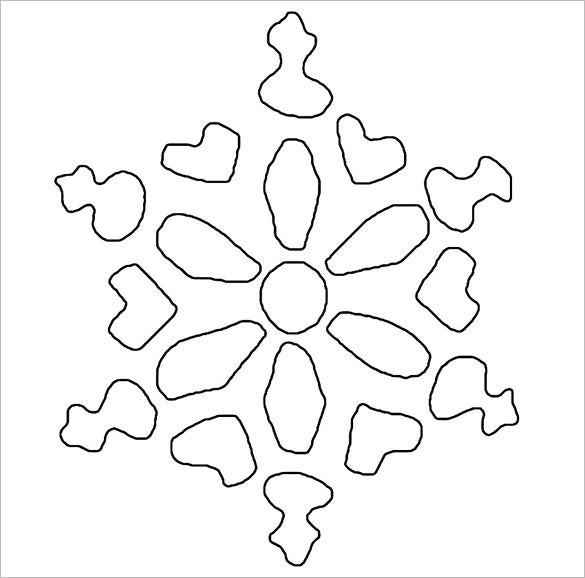 free download snowflake stencil template