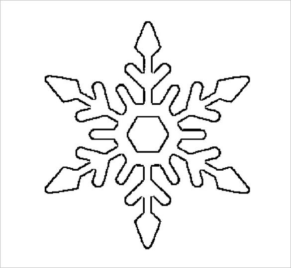 image regarding Snowflakes Printable identified as 17+ Snowflake Stencil Template Totally free Printable Phrase, PDF