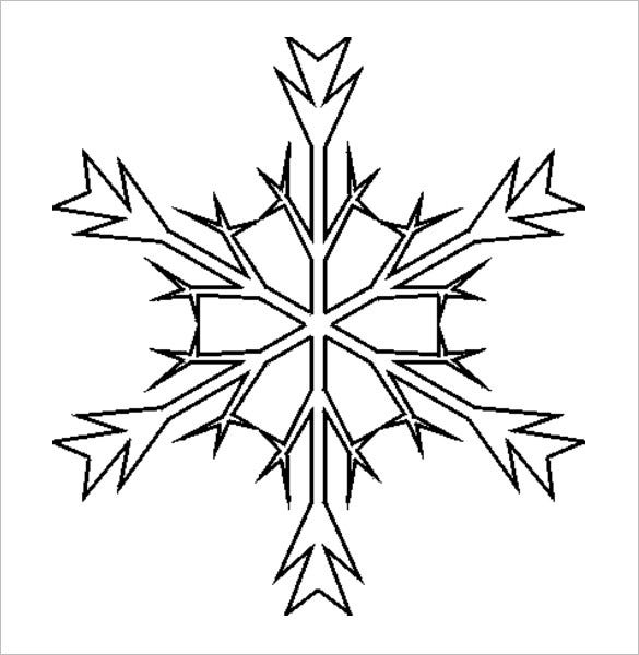 free stencil snowflake download