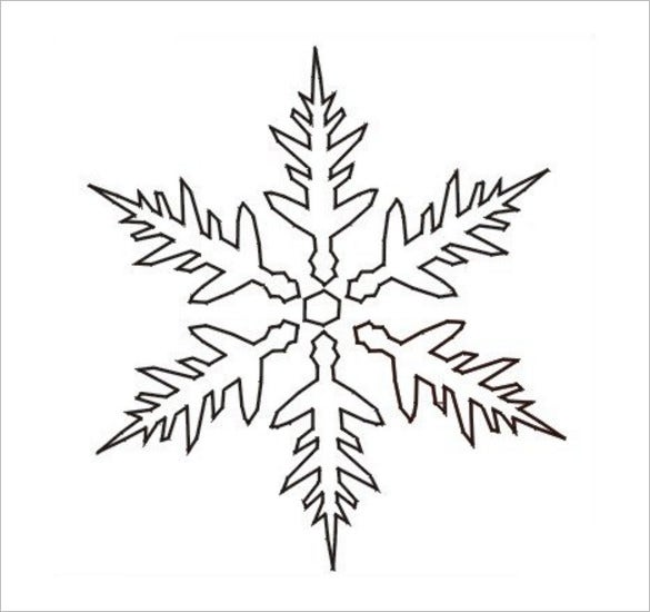 free christmas stencil snowflake download