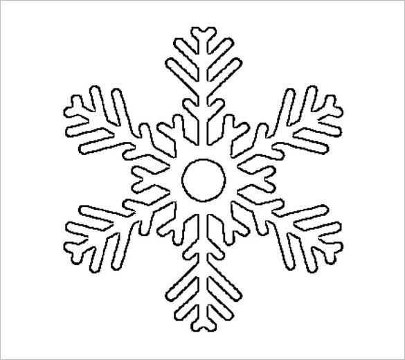 big traditional snowflake stencil template