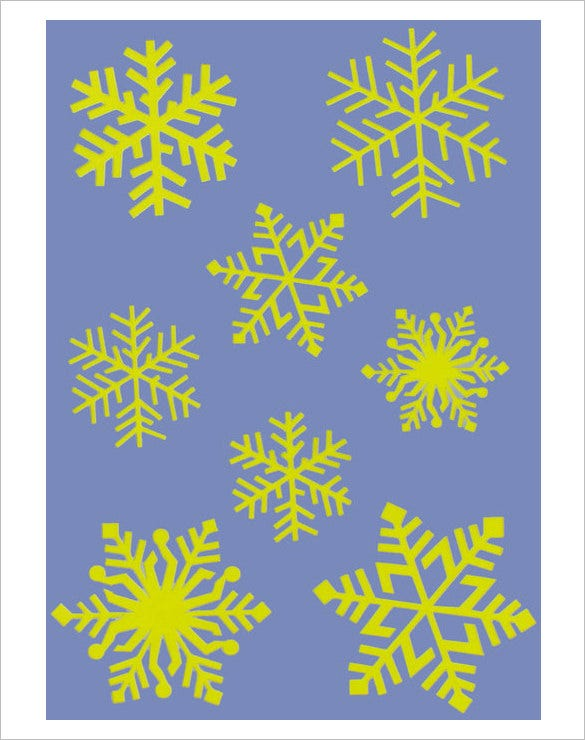 beautiful snowflakes stencil download