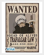 Wanted-Trafalgar-Law-One-Piece-Poster