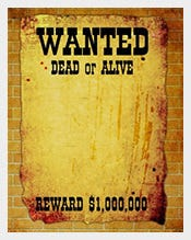 Customizable Blank Wanted Poster Template  Free Wanted Poster Template Download