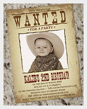 Old-Wanted-Party-Poster-Template