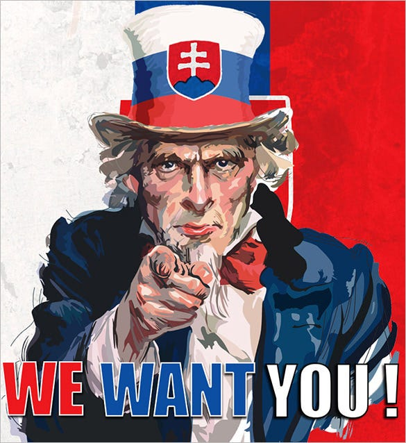 we want you poster template sample download
