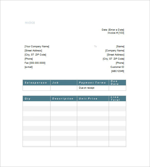 Service Invoice Template   Free Sample Example Format Download