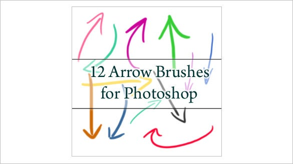 12 arrow photoshop brushes