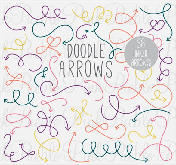 36 doodle arrow photoshop brushes