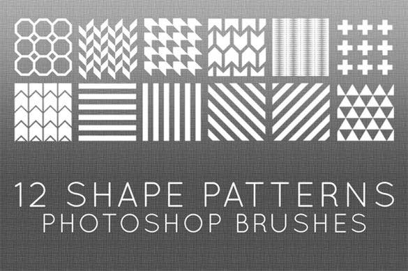 12 arrow shape photoshop brushes