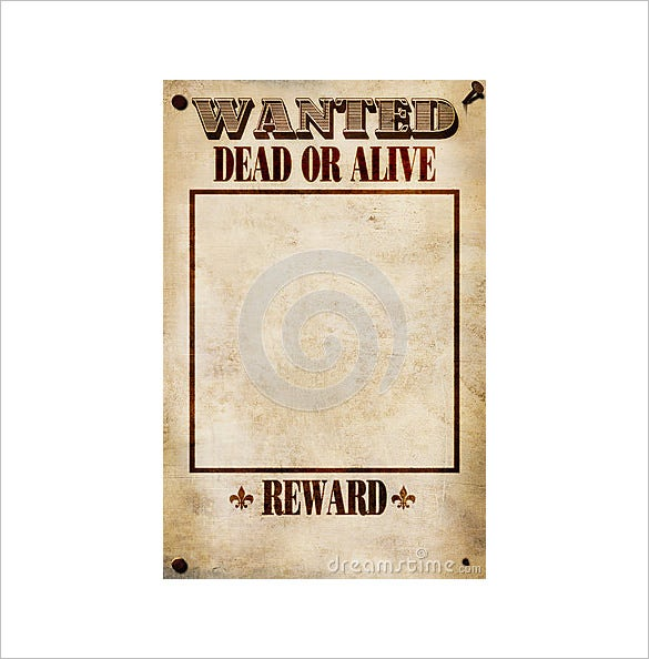 example of blank wanted poster template