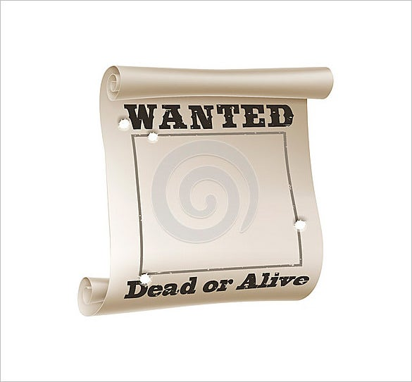 blank wanted sample poster download