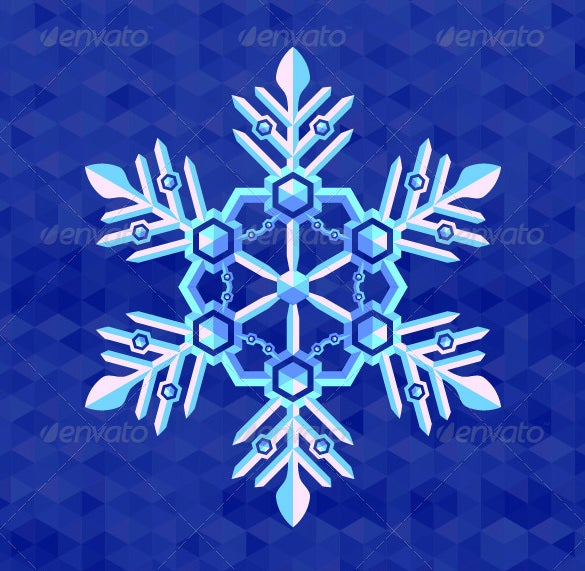 christmas snowflake greeting card template psd download