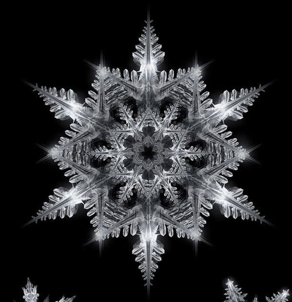 christmas snowflake template illustration download