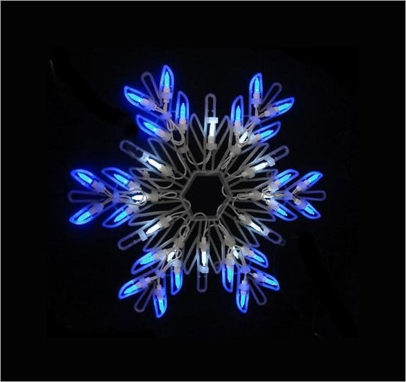 blue led lighted snowflake christmas window decoration