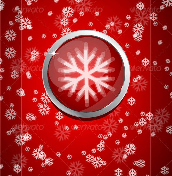 red christmas snowflake template eps download