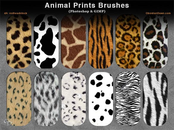 17 animal print photoshop brushes