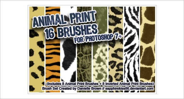 16 animal print photoshop brushes