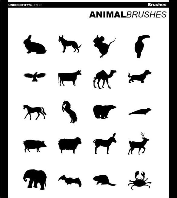 20 photoshop animal brushes