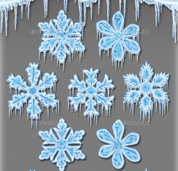 frozen snowflake template psd design download