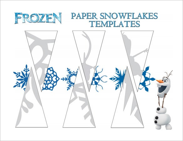 frozen paper snowflake template pdf download