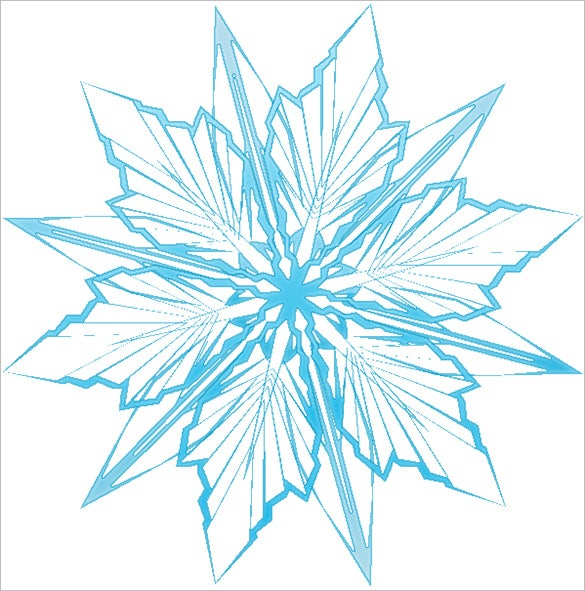 printable star frozen snowflake template download