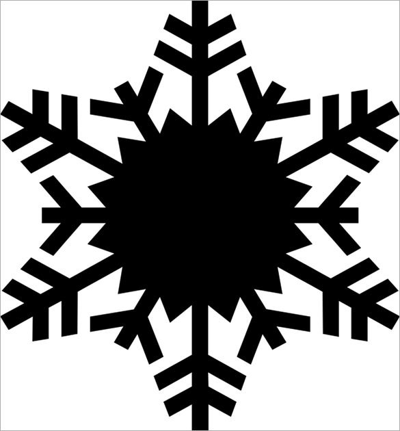fern snowflake stencil printbale download