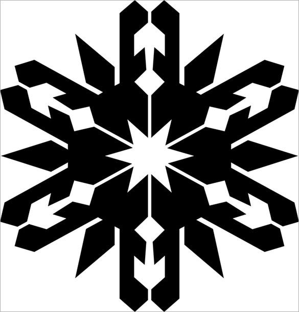 spiked snowflake stencil template for free