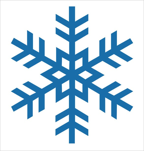 graphic regarding Printable Snowflakes titled 17+ Snowflake Stencil Template Free of charge Printable Term, PDF