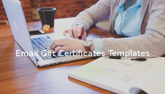 7  email gift certificate templates