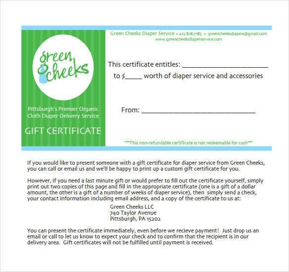 Blank Gift Certificate Template 31 Examples In Pdf Word Free