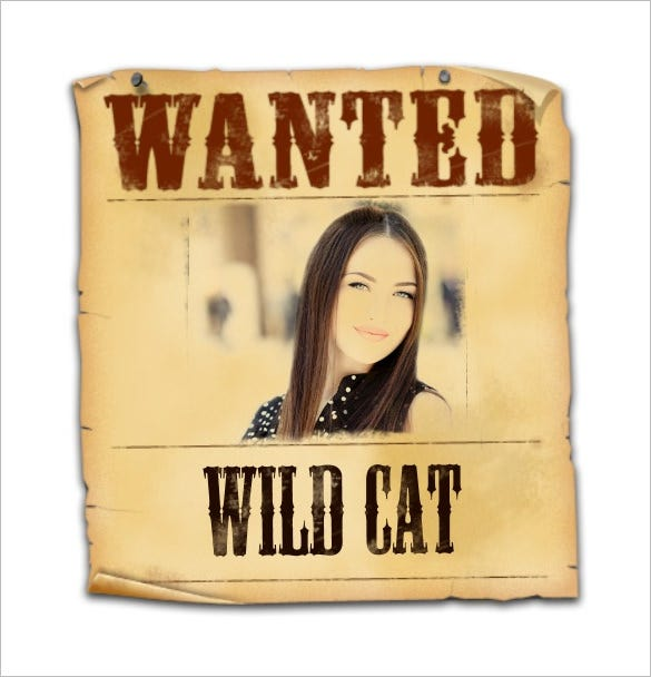 editable old wanted poster sample downlaod