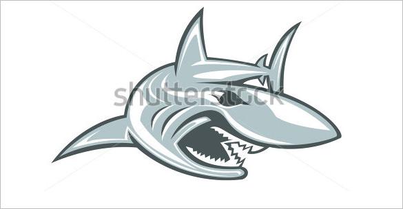 funny shark logo