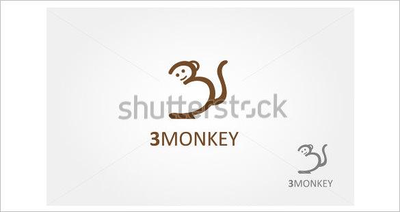 funny monkey logo