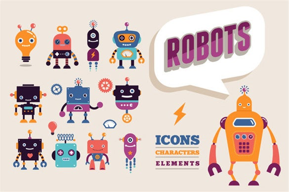 funny robot logo