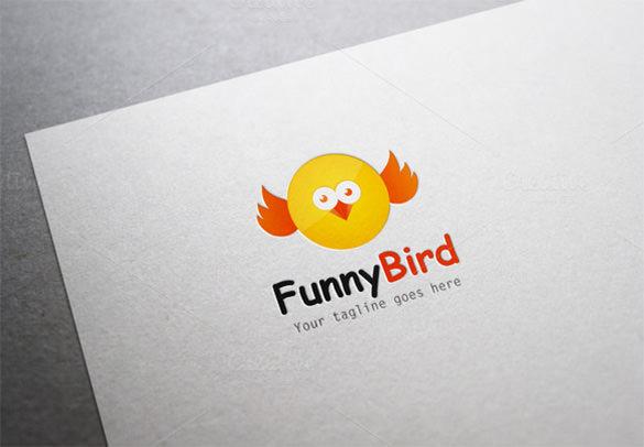 pretty funny bird logo