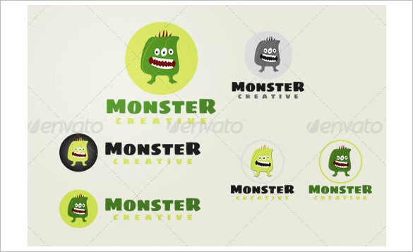 funny monster logo