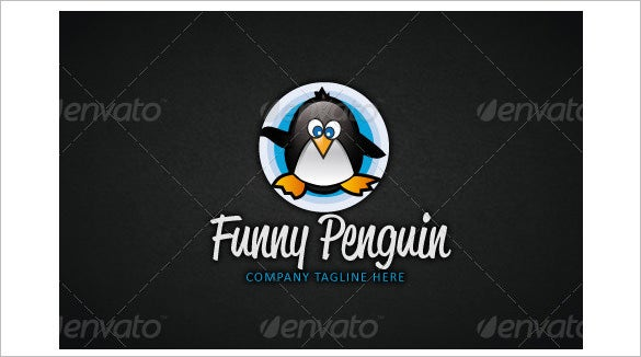 funny penguin logo