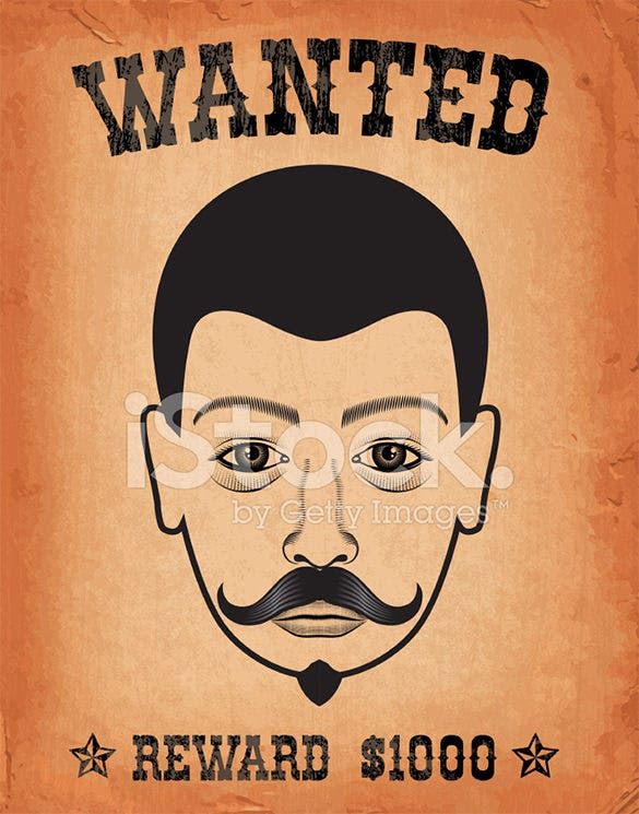 example old western wanted poster template