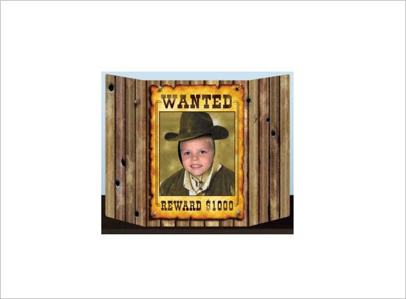 sample of a western wanted poster