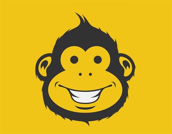 funny monkey logog