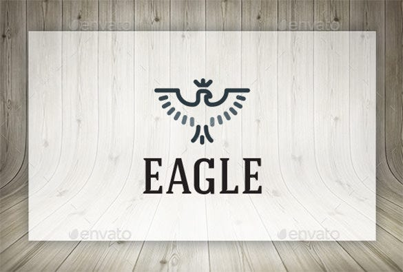 cute eagle logo